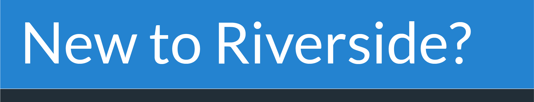 Are You New to Riverside Presbyterian Church?