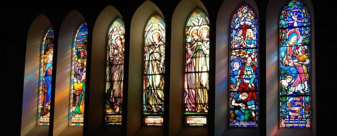Stained Glass Windows at Riverside Presbyterian Church (USA) in Riverside IL